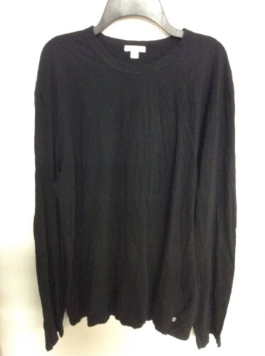 James Perse Clothing Men/'s NWOT Basic Solid Black Classic L//S T-Shirt MLJ3351KB