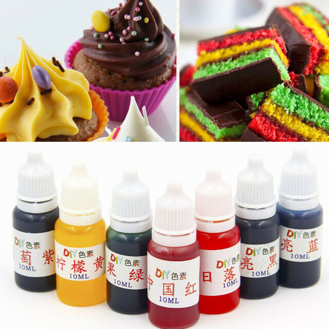 10ML Food Coloring Liquid Pastry Baking Cake Colouring Pigment Decor  Supplies
