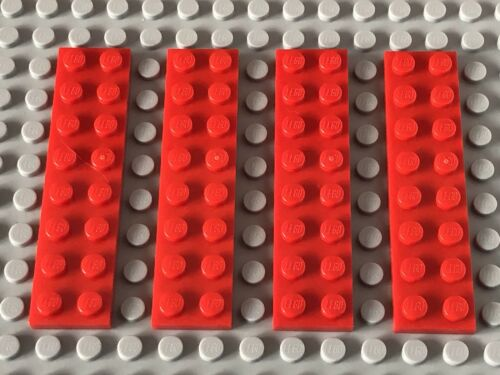 LEGO SPARES PARTS 3034 Red 2x8 Plate X4 FREE 1st Class Post!