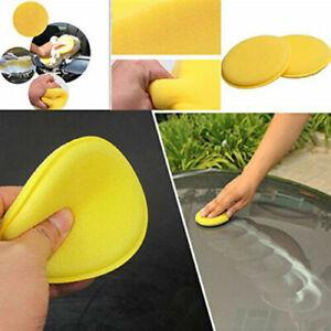 2x-Esponjas-de-pulido-encerado-del-coche-Aplicador-cera-Almohadilla-limpieza