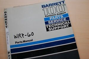 Barrett Wrp 60 Electric Pallet Jack Lift Spare Parts