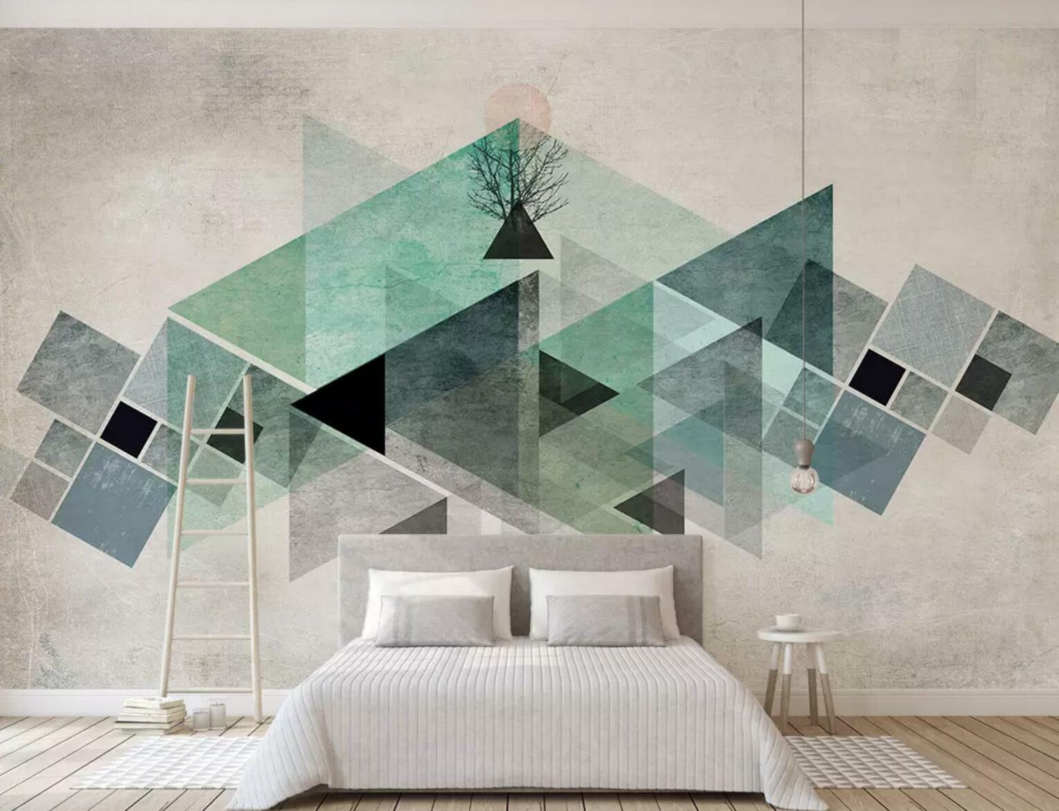 3D bluee Pattern 05 Wall Paper Exclusive MXY Wallpaper Mural Decal Indoor wall AJ