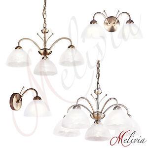 Lustre-classique-Applique-murale-laiton-ancien-verre-blanc-Lampe-suspendue