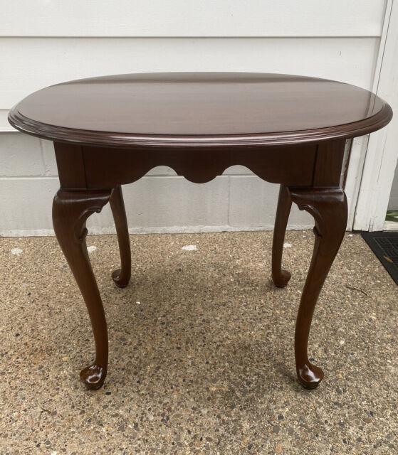 Vintage Ethan Allen Georgian Court Solid Cherry Oval End Table #11-8306 Item(D)