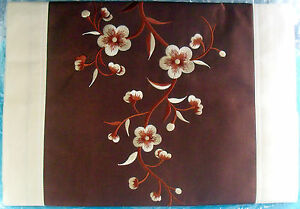 Image Is Loading Handcrafted Vietnamese Embroidered Silk Table Runner  16 034