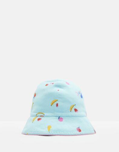 Joules Baby Sunseeker Reversible Bucket Hat in AQUA FRUIT