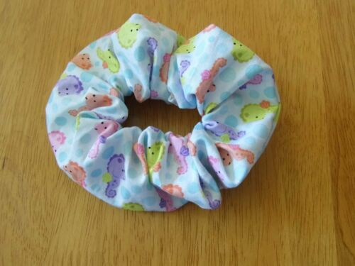 Hair ruffle scrunchie seahorses sea costume dance cute aqua
