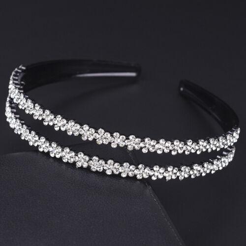 Women/'s Crystal Hairband Headband Flower Rhinestone Hair Bands Hoop Accessories