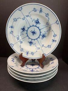 VTG-Royal-Copenhagen-Blue-Fluted-Floral-Plain-Rimmed-Soup-Bowl-Plate-NO-1-167