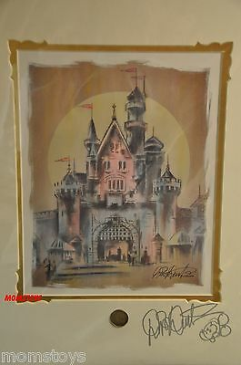 "THE ART OF DISNEY"" THE MAGIC KINGDOM"" BY DICK DUERRSTEIN SIGNED & Mickey"