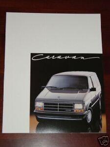 1987 Dodge Mini Ram Van  Brochure MINT