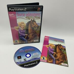 Barbie-Adventures-Wild-Horse-Rescue-PlayStation-2-PS2-Complete-Tested-Video-Game