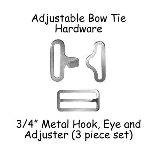 """3//4/"""" Silver Metal Slide Adjuster 200 Bow Tie Hardware Supplies Hook /& Eye"""