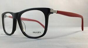 26829b15a9d6 PRADA EYEGLASSES FRAME RED BLACK VPS 13P 54-18-140...ITALY | eBay
