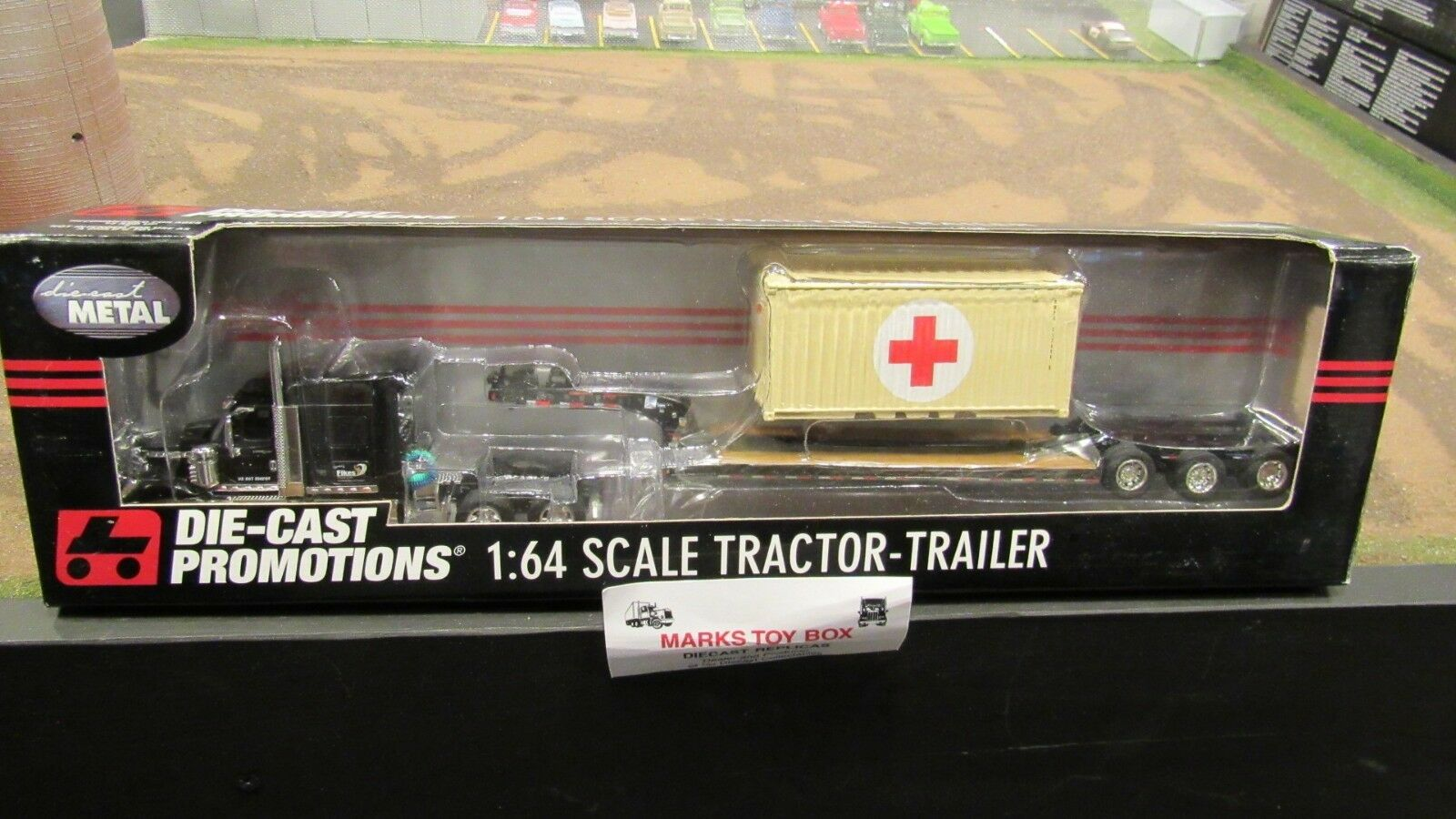 DCP  32295 FIKES rosso CROSS CONTAINER INTERNATIONAL IH LONESTAR TRAILER 1:64/FC