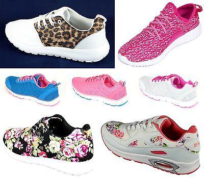 Blau Pink Damen Sportschuhe Sneaker Trainingsschuhe Laufschuhe Turnschuhe New
