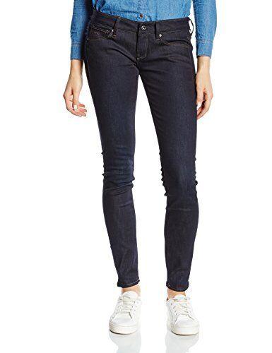 G STAR 3301 Vita Bassa Super Skinny Jeans DK Aged Jeans Da Donna Regno Unito taglia W32 L34