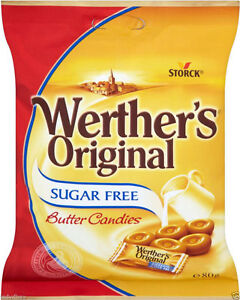 1 bag 80gr of werthers original butter candy sugar free sweet kosher