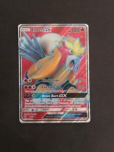 Ultra-Rare-Entei-GX-71-73-Holo-Full-Art-Pokemon-Card-Near-Mint