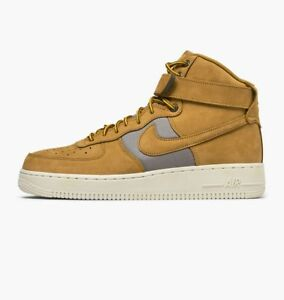 Details about Nike Air Force 1 High 07 Premium SZ 10.5 Wheat Khaki Light Bone Flax 525317 700