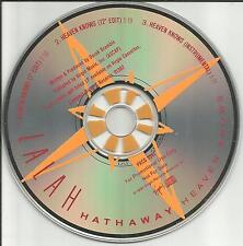 LALAH HATHWAY Heaven Knows 7 & 12 INCH EDIT MIXES & INSTRUMENTAL PROMO CD single