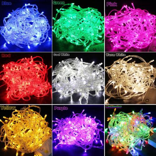 100//600 LED Lichterkette Karneval Außen Innen Hochzeit Party Deko Beleuchtung