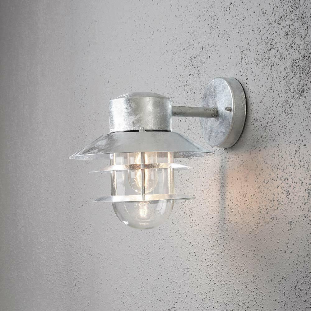 Konstsmide 7310-320 Modena al aire libre luz de Parojo de Acero Galvanizado De Vidrio Transparente