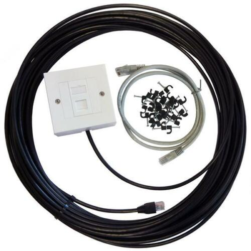 Cat5e External Outdoor Network Cable Ethernet Extension Kit  lot