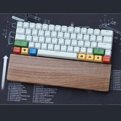 Grifiti Fat Wrist Pad 14 Black 4x14x0.75 inch Mech Keyboard Rest Black Nylon