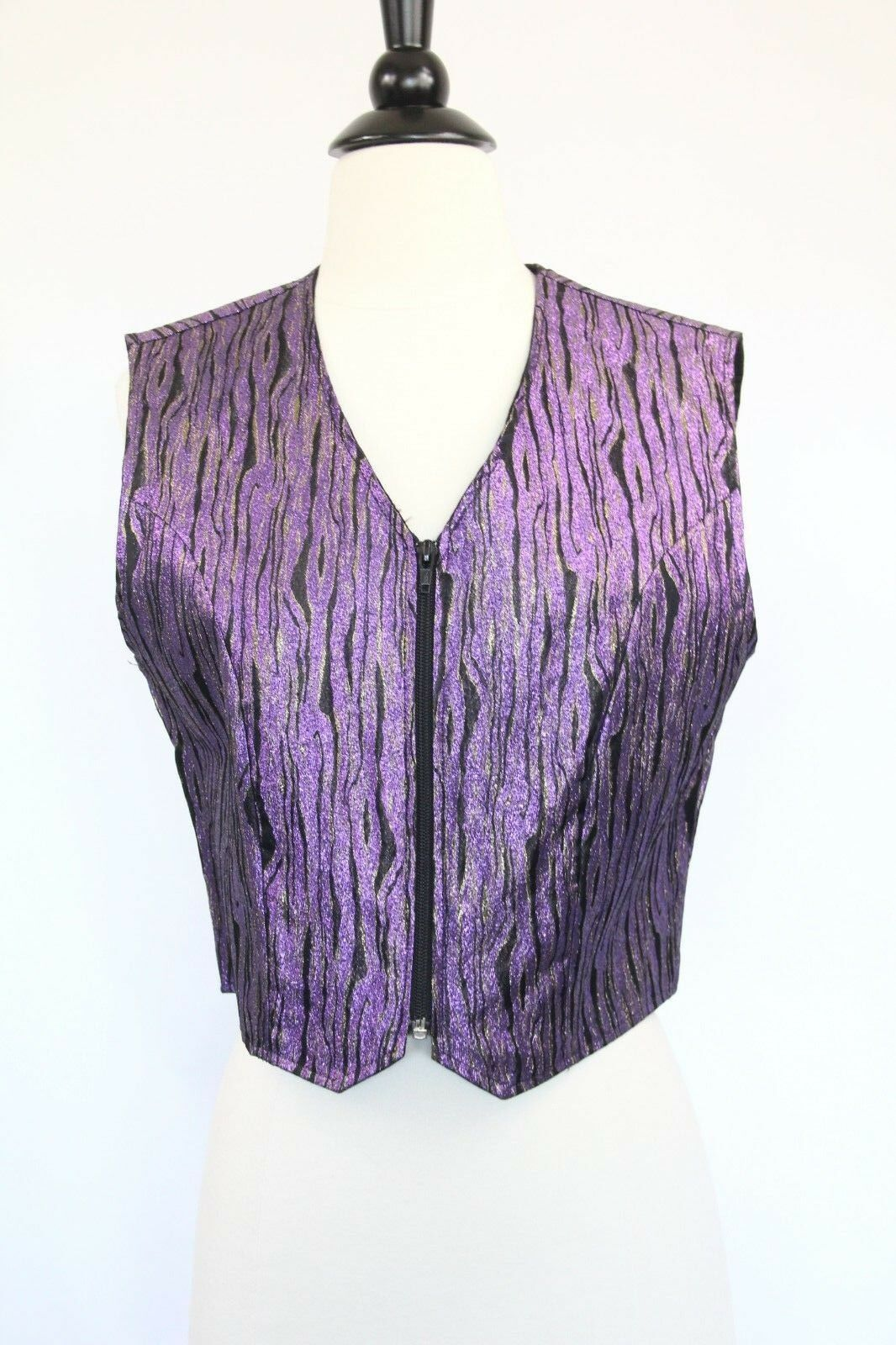 Women Vintage Vest Medium Costume Cowgirl Rodeo 1849 Authentic Ranchwear purple