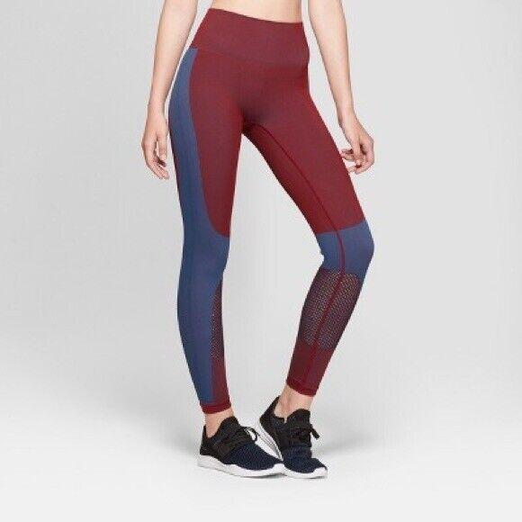 Joy Lab Women's Two-Tone High Rise 7/8 Leggings Medium