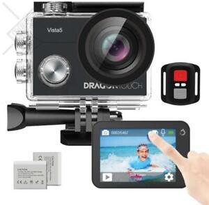 Dragon Touch Vista 5 Action Camera Native 4K 20MP