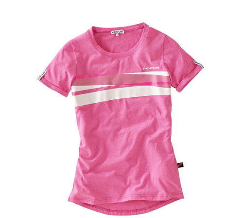New FOCUS BICYCLE Women/'s Jam Tee Size Large Pink//white