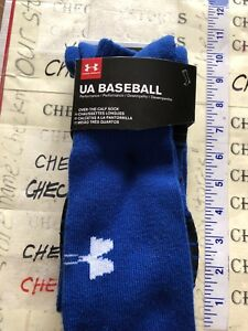 35a674dd2c Details about 2 Pairs Mens UA UNDER ARMOUR Baseball Crew Socks blue (9-12.5  Shoes) Size Large