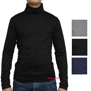 foto ufficiali 8b8c4 9ce4f Dettagli su Lupetto Maglia Uomo Collo Alto Sotto Giacca Maglione Maglietta  M L XL XXL Jeans