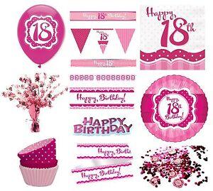 Détails Sur Parfaitement Rose Pour Filles âge 18 Ans Joyeux 18ème Fête Danniversaire