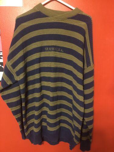 Tamaño Adivina Rare Georges Marciano Vintage Xl Suéter Usa Rayas por Uqq84Swx7Z