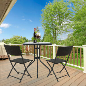 GARDEN-PATIO-BLACK-FURNITURE-SET-3PC-2-SEATER-OUTDOOR-TABLE-TEMPERED-GLASS-SET
