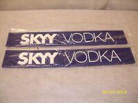 (2) Skyy Vodka - 24 Rubber Bar Rail Spill Mat - Set Of 2 -