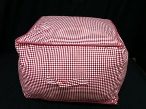 Miraculous Details About Pottery Barn Kids Teen Beanbag Table Square Chair Cube Red Gingham W Slipcover Bralicious Painted Fabric Chair Ideas Braliciousco
