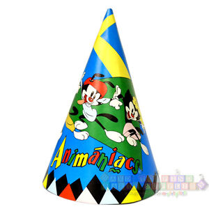 Details about ANIMANIACS CONE HATS (8) ~ Birthday Party Supplies Favors  Warner Brothers