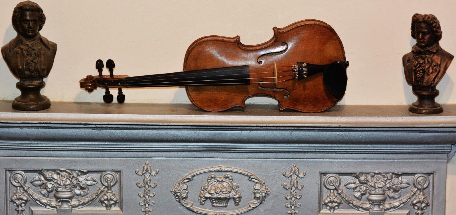 Vintage Violin Mittenwald 13 1 4  1866-69 Größe ( 3 4 - 7 8) (free old bow)