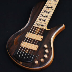 Adamovic Halo 6 Hollow Body Custom Order Natural Used Electric Bass