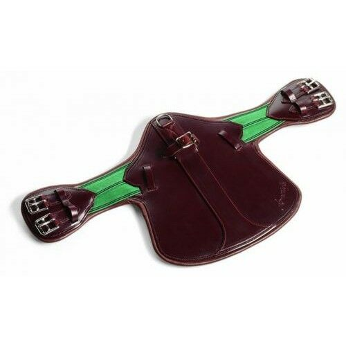 AMERIGO Short Leather EVENTINGShowJumping STUD GIRTH Guard BlackBrown 6080cm