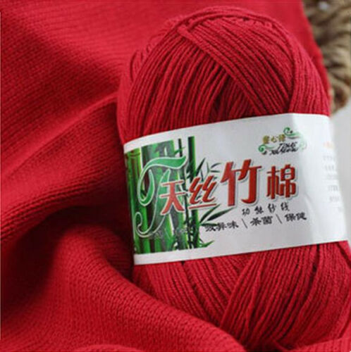 Soft Natural Smooth Bamboo Cotton Knitting Yarn Ball Cole Color Yarn 50g