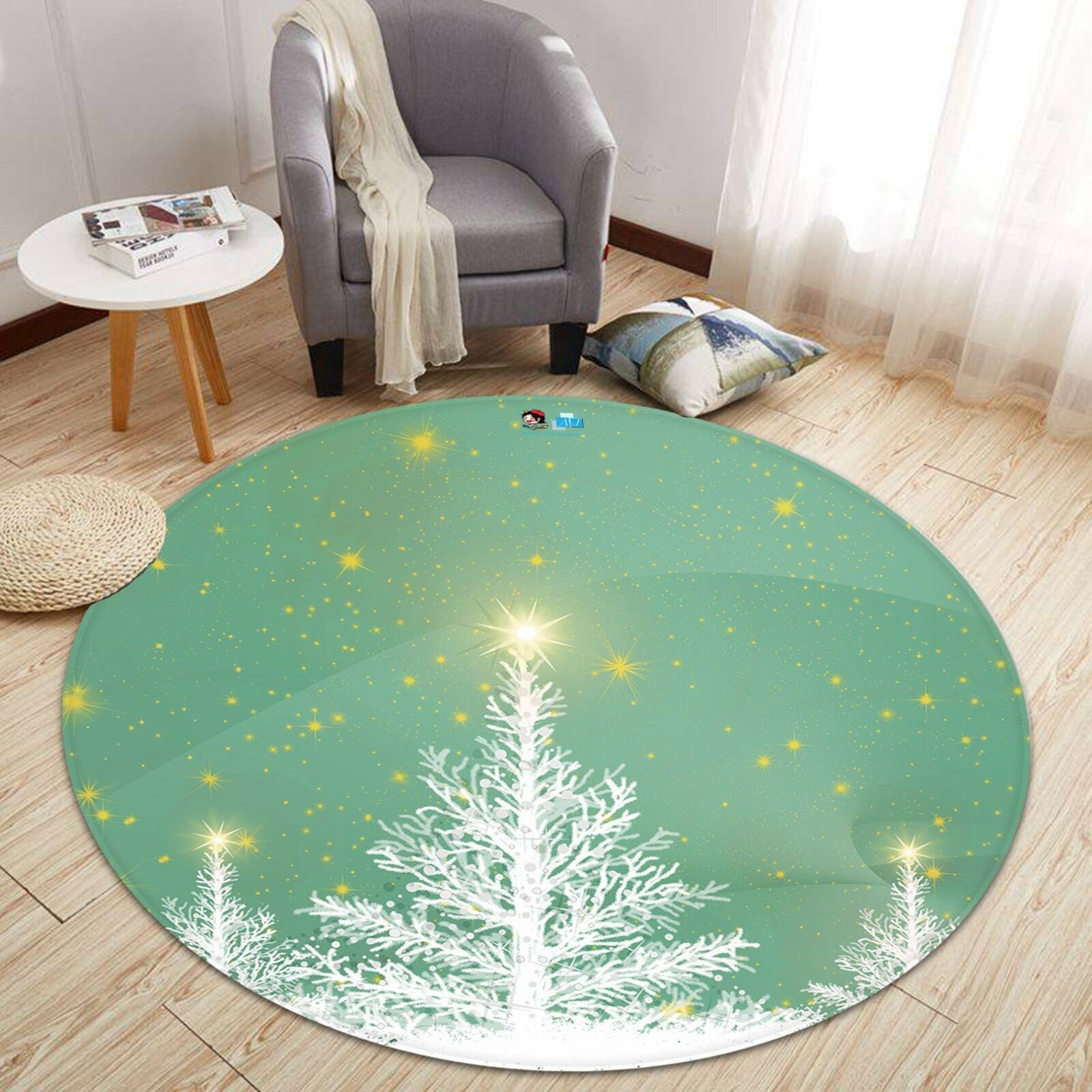 3D Christmas  Xmas 486 Non Slip Rug Mat Room Mat Round Elegant Photo Carpet AU
