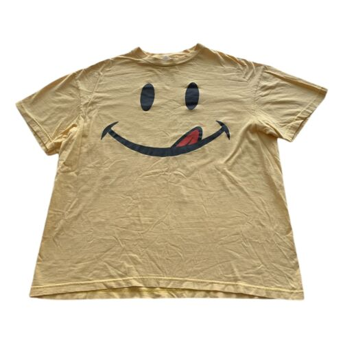 VTG 90s Smiley Face I Love You Man Maroon Red Short Sleeve Graphic Shirt Size L