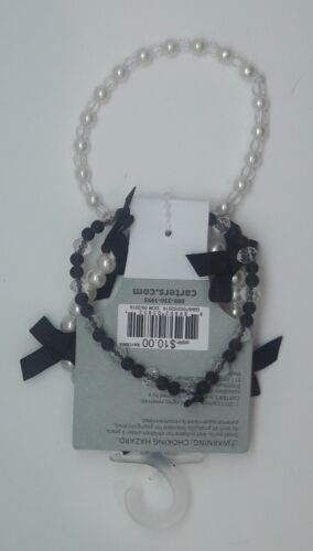 NWT Carter's Toddler 3 Pc Stretchy Pearl /& Beaded Bracelet Accessory Set