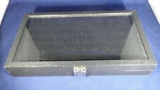 Glass Top Jewelry Display Case With 44 Gem Display Jars Very Good Condition