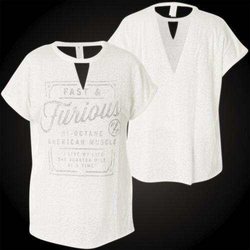 Damen Affliction Furious Fast T Roll shirt Muscle American amp; qtaft
